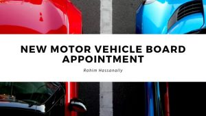 Rahim Hassanally Reflects on New Motor Vehicle Board Appointment